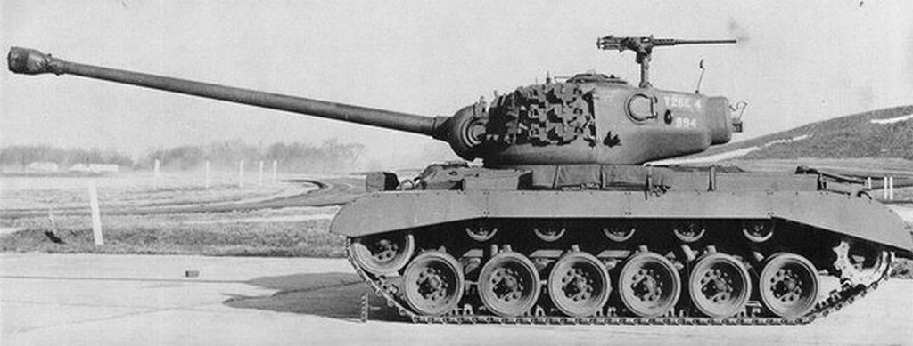 The standard T26E4, as it was produced