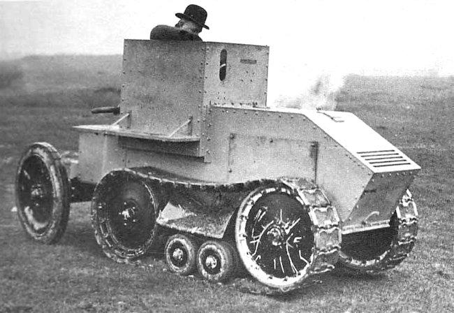 The Morris-Martel Tankette undergoing trials