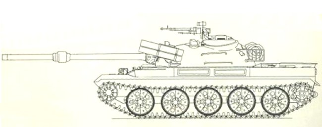 Chinese WZ122 line drawing