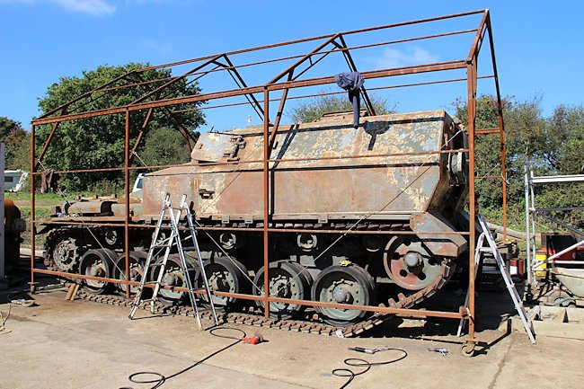 Centurion FV3805 SPG P2 under restoration on the Isle of Wight.