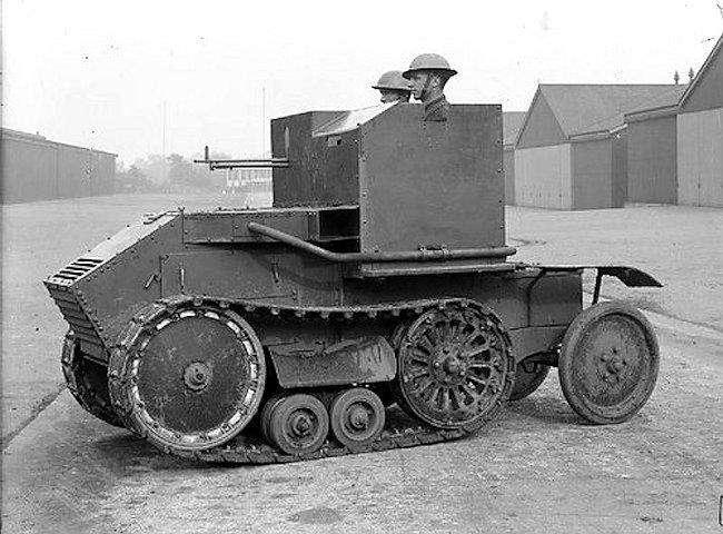 The Morris-Martel Tankette had a two man crew