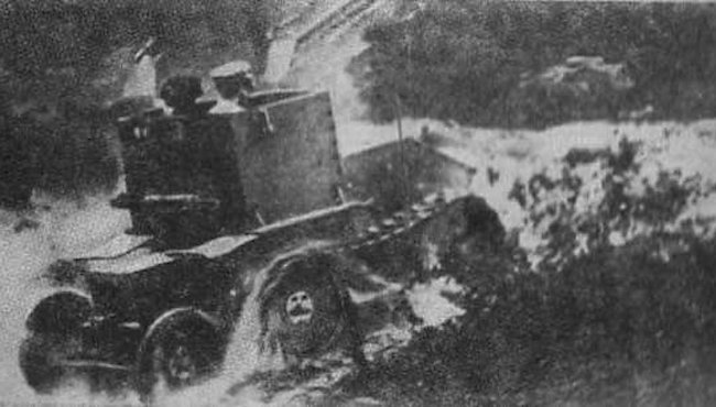 The Morris-Martel Two-man Tankette undergoing trials