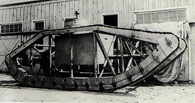 The Skeleton Tank was also called the Spider Tank by local journalists