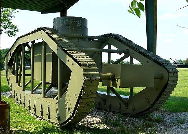Rear view of the Pioneer Tractor Skeleton Tank