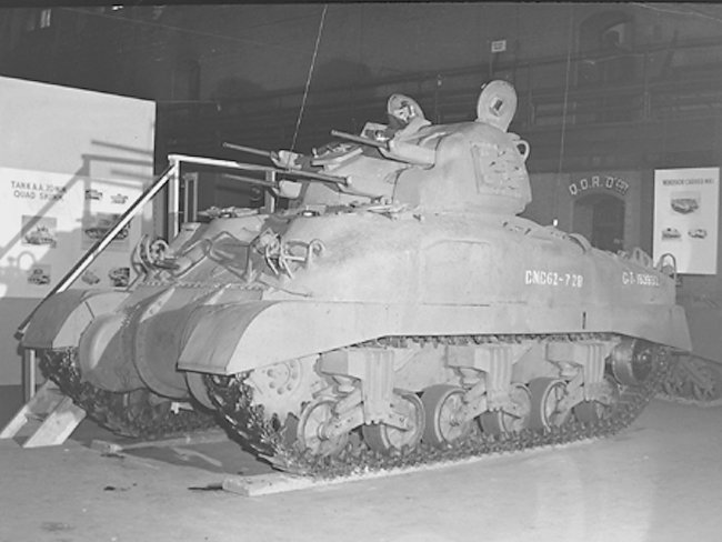 Skink tank Shown at the Dennison Armouries, Toronto, 1946