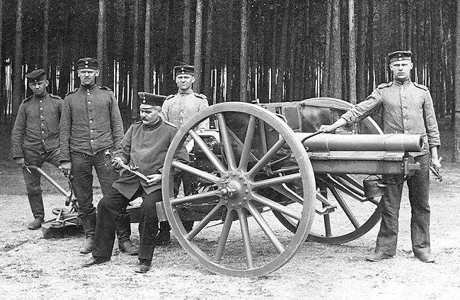 7.7 cm (3.03 in) German leichte Feld Kanone (l.F.K.) 1896 n/a (light field cannon)
