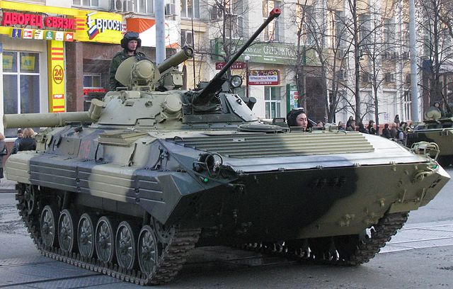 BMP-2 Military Parade rehearsal