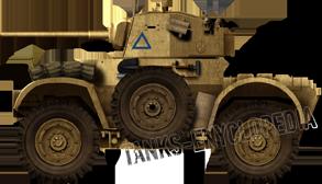 Daimler AC Mk.II of the Desert Rats, North Africa 1942