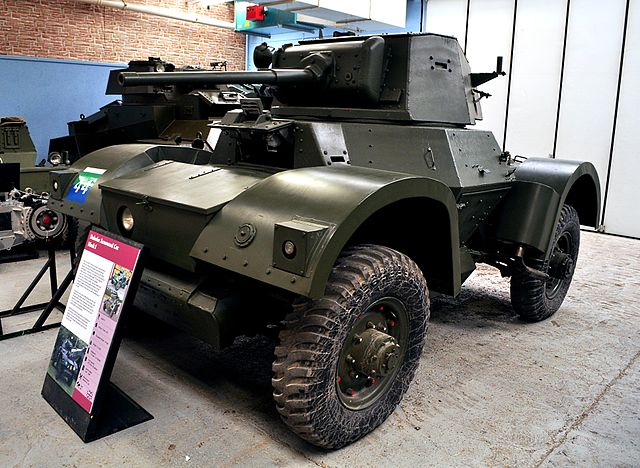 A Daimler Armoured Car Mk.I at the Bovington Tank Museum