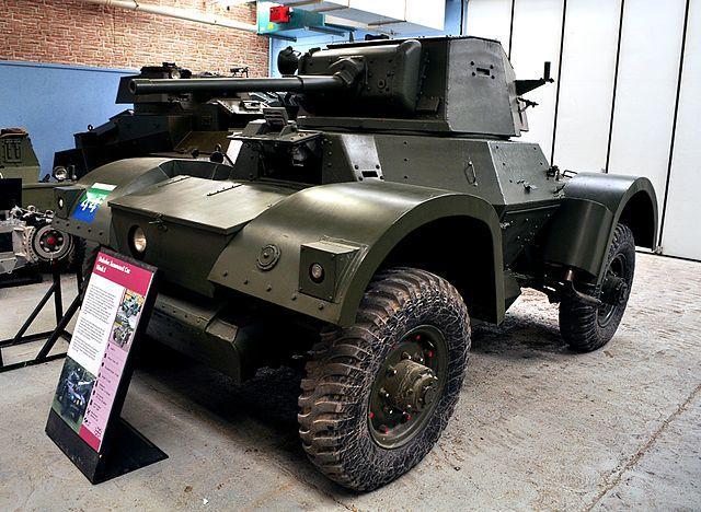A Daimler Armoured Car Mk.I at the Bovington Tank Museum