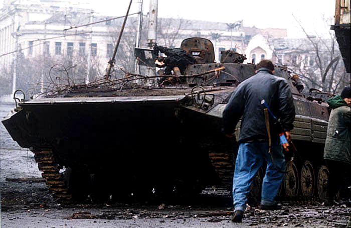 Destroyed BMP-2 in Chechnya, 2014