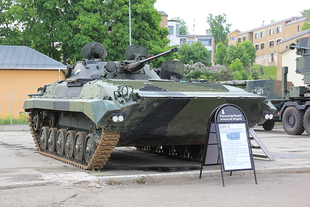 Finnish BMP-2, Front view