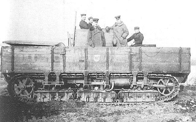 A7V Gelendewagen with taller wooden side panels.