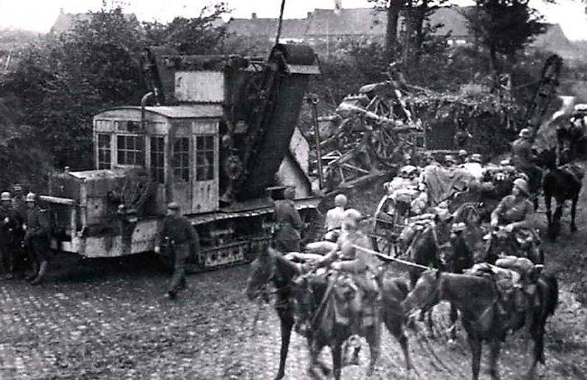 A7V-Schützengrabenbagger trench cutting machine