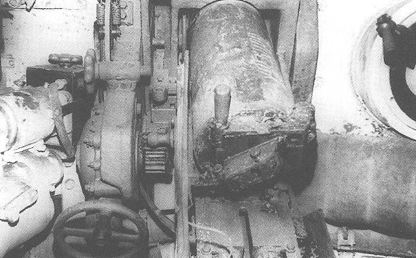 The KT-28 in its mounting inside the tank