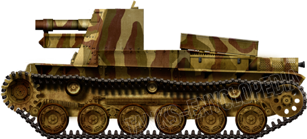 The Type 4 Ho-Ro sporting its impressive 15 cm howitzer at the front.