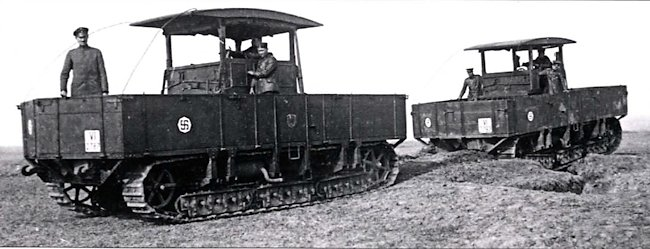 A pair of A7V Gelandewagens in service with the AKK(R) 111