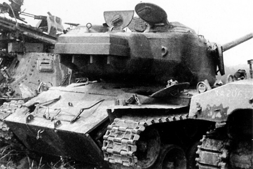 In this shot of the tank at Kassel, the counter-weight added to the rear of the turret can be seen - Photo: Pershing: A History of the Medium Tank T20 Series