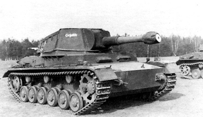 Pz.Sfl.IVb artillery self-propelled gun at the crew training centre
