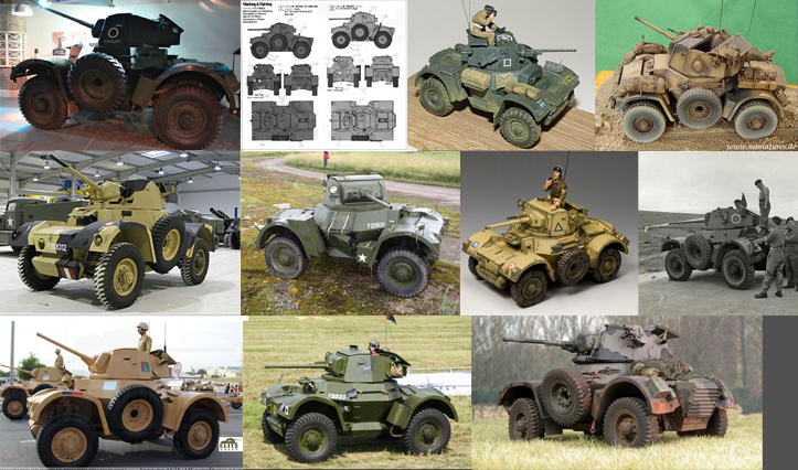 Daimler Armoured Car visual references from around the web
