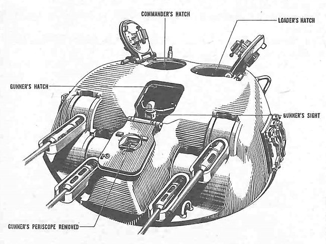 Skink Anti-aircraft Grizzly Tank turret hatches open