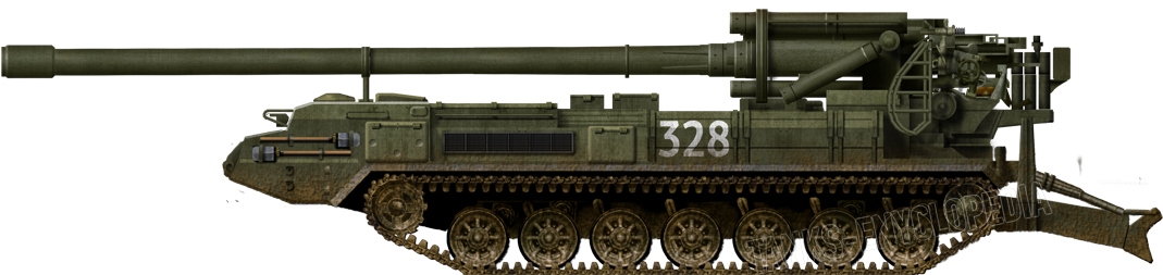 Russian 2S7 in the 1990s