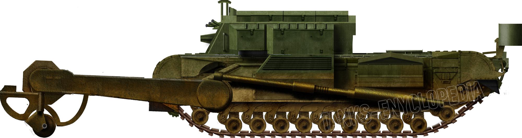 Churchill Toad, FV3902 Flail Tank
