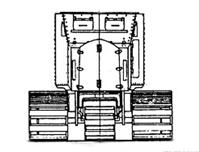 R.N.A.S. Armoured tracked vehicle line drawings front