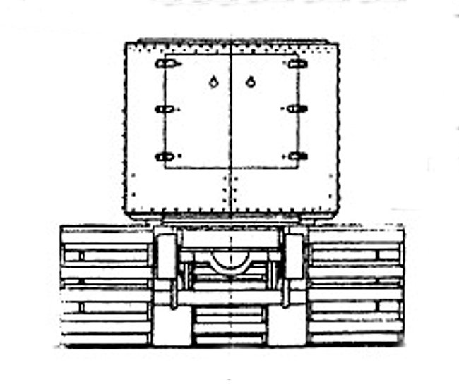 R.N.A.S. Armoured tracked vehicle line drawings rear view