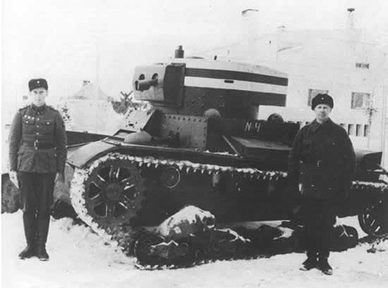 An HT-130 that had been captured by Finnish forces and pressed into Finish army service
