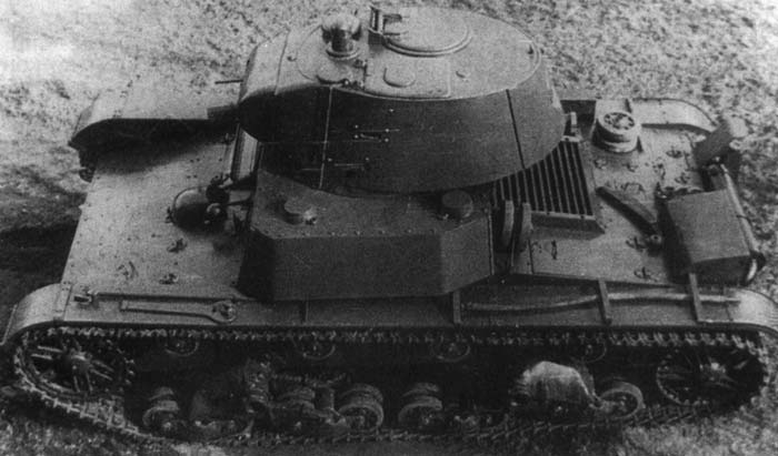 A HT-133. Notice that unlike a regular production T-26, the turret is on the right side of the hull, and on the left, two armored refueling caps are situated.