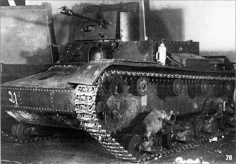 This HT-26 was captured by the Finnish army in 1940, with this picture taken from the repair center established for the renovation of Soviet vehicles