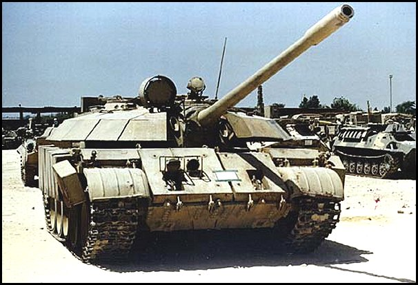 Captured T-55 Enigma, possibly in Kuwait, post-Gulf War.