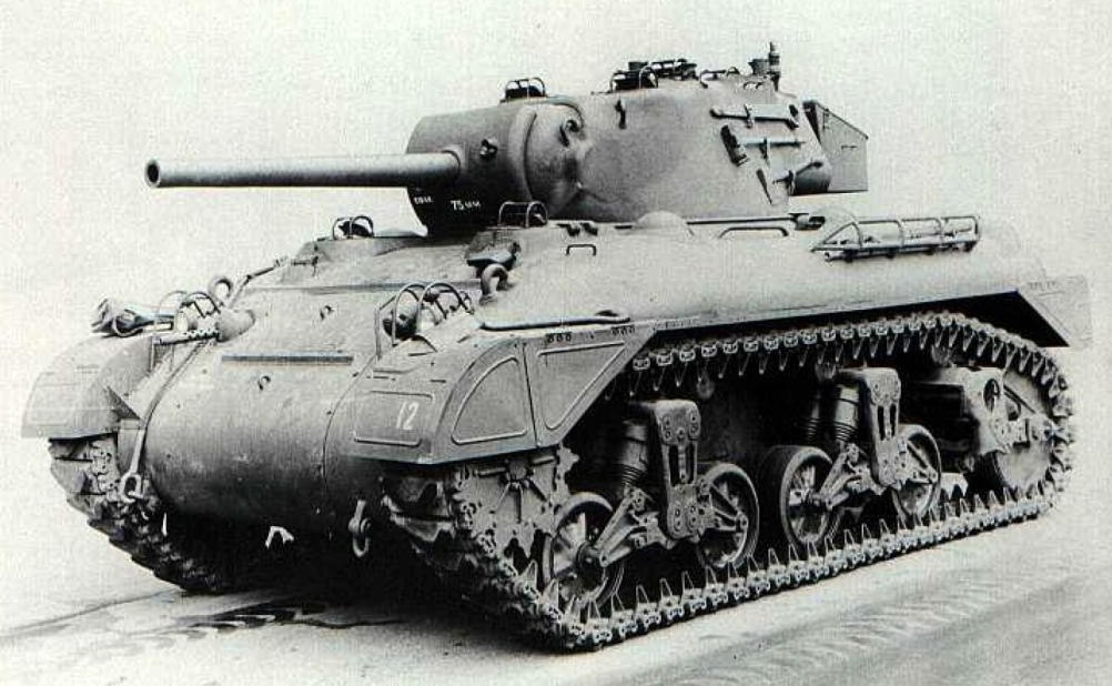 M7 (T7E5) armed with the 75mm Gun M3. It also has the less extensive side-skirts.