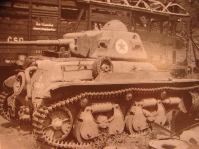 A Vânătorul de Care R35 with the turret traversed to the rear sitting seemingly intact in Znojmo Railway in 1945. Source: AFV Photo Album: Volume 2
