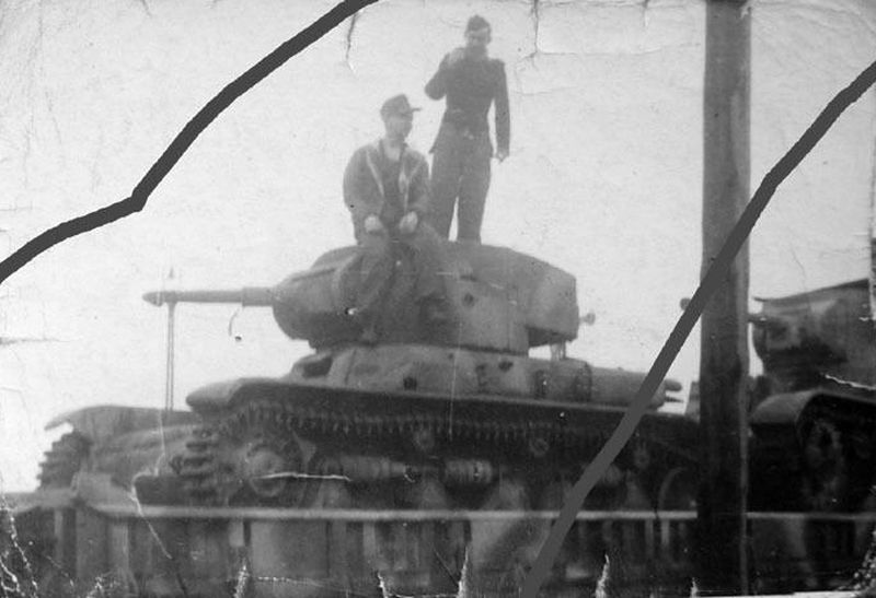 The R35/T-26 appears as though it's being transported by rail with another T-26 as a companion