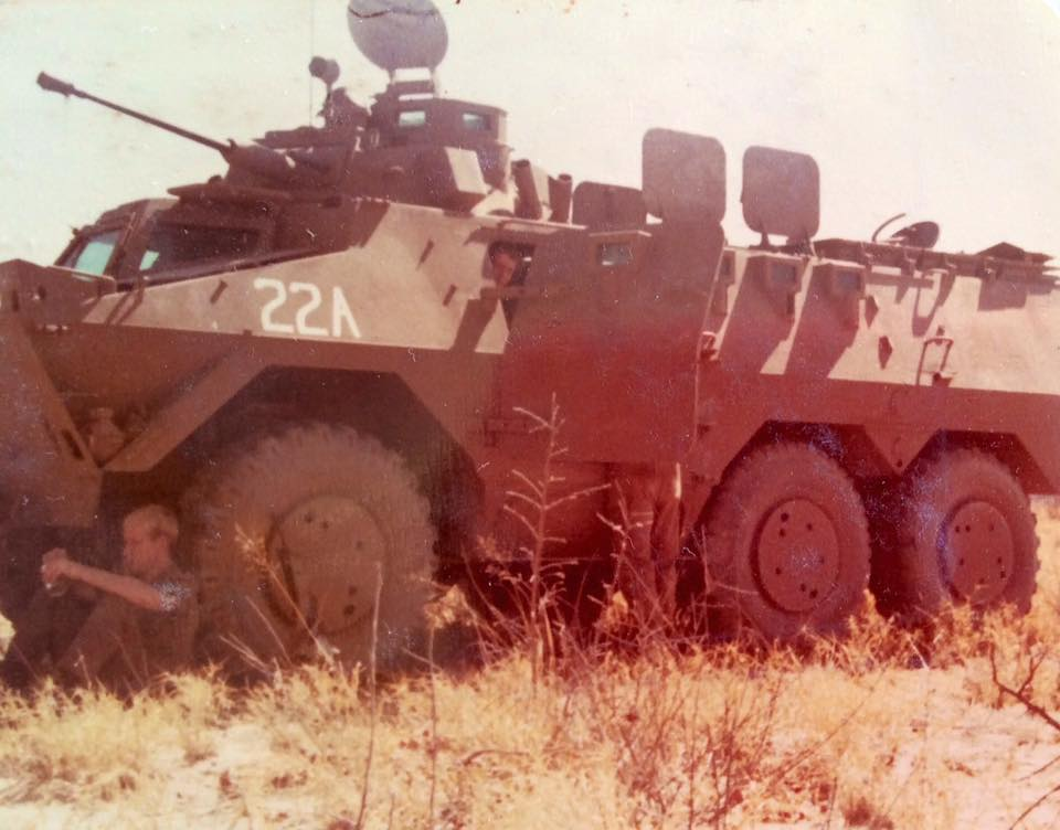 Ratel 20 - Crew taking a break during training 1981
