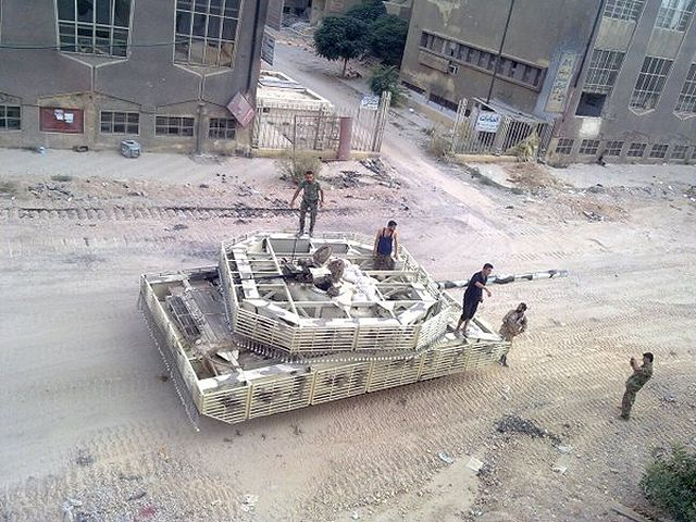 Syrian T-72 and ZSU-23-4