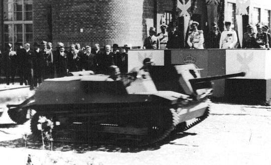 The TKS-B was converted into one of the two TKS-D tank destroyer prototypes.