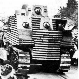 Semple Tank on parade in Auckland, 10th of May 1941
