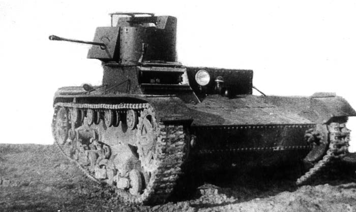 A pre-production HT-26. Notice that the KS-24 flamethrower was mounted where the ball mounted DT-29 was usually situated.