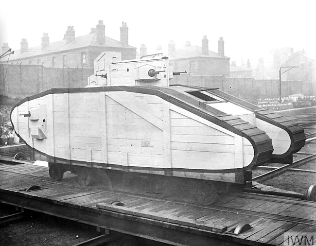 Mock-up of proposed Mark VI Tank