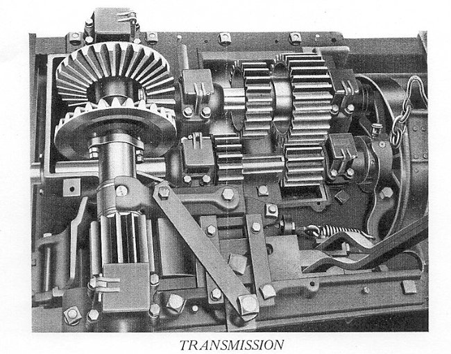 The transmission used in the Strait's Tractor