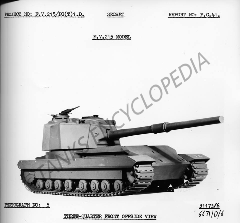 Fv215 Heavy Gun Tank Encyclopedia Modern Schematics A Small Scale Mock Up Of The Vehicle Photo Courtesy Ed Francis
