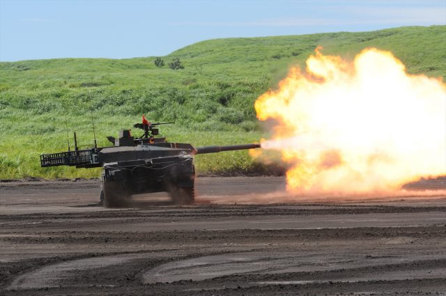The Type 10 firing its 120mm main armament - Photo: Global Military Review