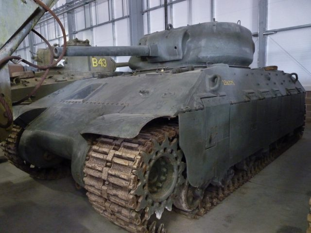 The T14 in Bovington's Vehicle Conservation Center - Photo: The Sherman Tank Site