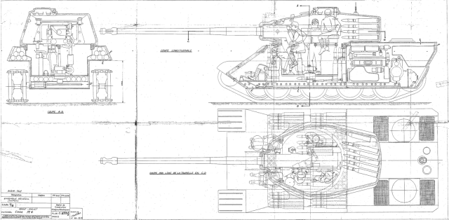The 1945 plans for the AMX M4