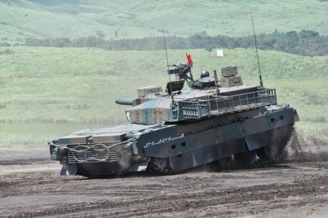 The Type 10 showing off its hydropneumatic suspension