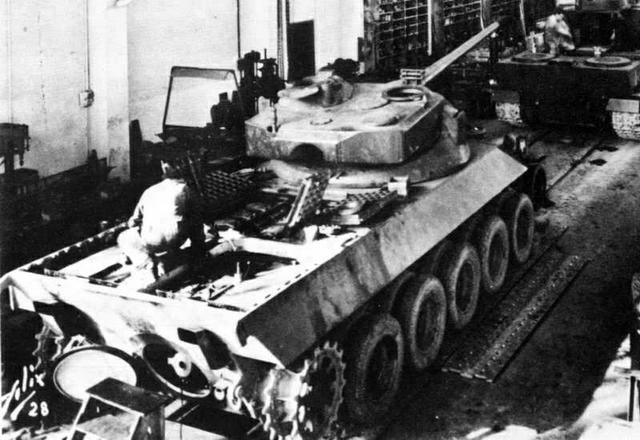 The Lorraine 40t undergoing some maintenance