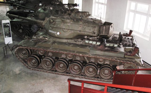 A French M47 Patton at the Saumur tank museum